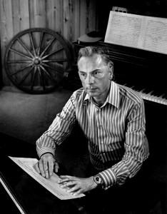 Panufnik in his studio composing Violin Concerto for  Menuhin for 1972 première Sir Andrzej Panufnik – Lady Camilla Jessel-Panufnik